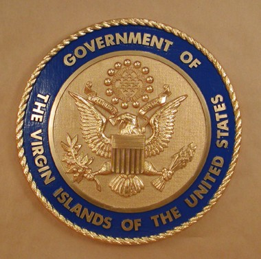 Government Of The Virgin Islands Wall Seal Www Wallseals Com