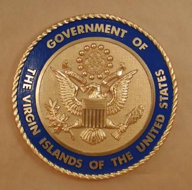 Government Of The Virgin Islands Wall Seal Www Wallseals Com